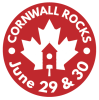 Cornwall Rocks LOGO reversed red